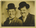 Movie/TV Memorabilia:Autographs and Signed Items, Laurel and Hardy Signed Photo. They ranked as the #7 all-timegreatest comedy act ever (and highest rated comedy duo) in the...