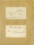 "Movie/TV Memorabilia:Autographs and Signed Items, Mervin LeRoy and Cecil B. DeMille Signed Notecards. Includes a 3"" x5"" notecard signed by LeRoy in black ink and a notecard..."