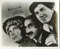 "Movie/TV Memorabilia:Autographs and Signed Items, Groucho Marx Signed Photo. A wonderful 8"" x 10"" b&w photo ofthe Marx Brothers signed by Groucho. In Excellent condition wi..."