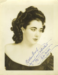 Movie/TV Memorabilia:Autographs and Signed Items, Nita Naldi Autographed Portrait and Publicity Portrait. The silent screen had no more lethal a vamp than Nita Naldi (1897-19... (Total: 2 Items)