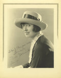 "Movie/TV Memorabilia:Autographs and Signed Items, Mabel Normand Signed Photograph, Autographed in the Wake of the William Desmond Taylor Murder Scandal. 8"" x 10"" matte finish..."