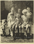 """Movie/TV Memorabilia:Autographs and Signed Items, Autographed """"Our Gang"""" Photograph. A terrific 11"""" x 13"""" posed shotof some of Hal Roach's """"Our Gang"""" kids, inscribed """"To Mr..."""