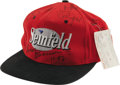 "Movie/TV Memorabilia:Autographs and Signed Items, ""Seinfeld"" Cast Signed Cap. This one-size-fits-all ""Seinfeld"" crewcap is signed by Jerry Seinfeld, Julia Louis-Dreyfuss, J..."