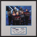 Movie/TV Memorabilia:Autographs and Signed Items, Star Trek the Next Generation Limited Edition Cast Signed Photo.Number 722 from a limited edition of 2,500, this cast phot...