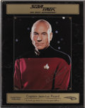 "Movie/TV Memorabilia:Autographs and Signed Items, Patrick Stewart Signed ""Star Trek the Next Generation"" LimitedEdition Display. This color photo of Patrick Stewart as Capt..."