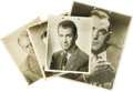"Movie/TV Memorabilia:Autographs and Signed Items, Vintage Actor Signed Photos. Set of four b&w photos includes an11"" x 14"" signed by Pat O'Brien (in Very Fine condition wit..."