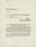 Movie/TV Memorabilia:Documents Signed, Erich Von Stroheim Signed Document. A single-page salary statement ($30,000 in the first two-and-a-half months of the year),...