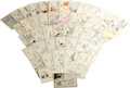 """Movie/TV Memorabilia:Autographs and Signed Items, Cartoonists Autograph Group. This astounding set of 3"""" x 5"""" notecards, collected during the 1940s, features signatures from..."""