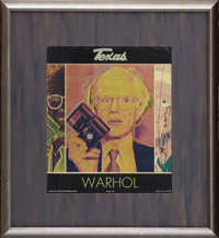 Andy Warhol Signed Magazine Cover. This copy of the March 16, 1980 Houston Chronicle Magazine was signed by the subject...