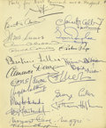 Movie/TV Memorabilia:Autographs and Signed Items, Stars Party with the Webbs. One of the most truly-star-studdedpages from the guest book pages of Clifton Webb and his moth...