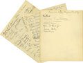 Movie/TV Memorabilia:Autographs and Signed Items, Clifton Webb Celebrates His Birthday with a Few Friends. This lotcontains three sheets of guest book signatures from Clift...
