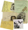 Movie/TV Memorabilia:Autographs and Signed Items, Female Horror Stars. Here's a stunning collection of five vintagesignatures from heroines, vamps and female monsters who ga...(Total: 5 )