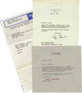 Movie/TV Memorabilia:Memorabilia, Vincent Price Birthday Lot . Here are three items from VincentPrice's 79th birthday in 1990. There is a Western Union mailg...(Total: 3 )