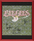 """Music Memorabilia:Autographs and Signed Items, Bee Gees """"Main Course"""" Signed Album Cover. One of the most popularacts of the '70s, the Bee Gees helped define the Disco e..."""