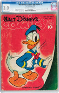 Golden Age (1938-1955):Cartoon Character, Walt Disney's Comics and Stories #1 (Dell, 1940) CGC GD/VG 3.0Off-white to white pages....