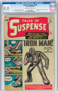 Silver Age (1956-1969):Superhero, Tales of Suspense #39 (Marvel, 1963) CGC VG 4.0 Cream to off-whitepages....