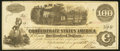 Confederate Notes:1862 Issues, T40 $100 1862 PF-1 Cr. 298 Re-Issued at Houston, TX.. ...