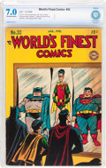 Golden Age (1938-1955):Superhero, World's Finest Comics #32 (DC, 1948) CBCS FN/VF 7.0 Off-white to white pages....