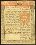 Colonial Notes:Pennsylvania, Pennsylvania March 20, 1771 15s Extremely Fine-About New.. ...