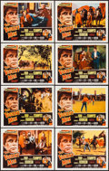 """Movie Posters:Western, The Violent Men (Columbia, 1955). Lobby Card Set of 8 (11"""" X 14""""). Western.. ... (Total: 8 Items)"""