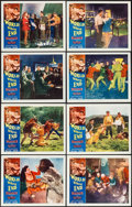 "Movie Posters:Science Fiction, World Without End (Allied Artists, 1956). Lobby Card Set of 8 (11""X 14""). Science Fiction.. ... (Total: 8 Items)"