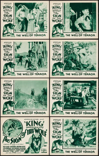 "The Sign of the Wolf (Metropolitan, 1931). Lobby Card Set of 8 (11"" X 14"") Episode 5 -- ""The Well of Terr..."