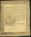 Colonial Notes:Pennsylvania, Pennsylvania April 20, 1781 3d Extremely Fine.. ...