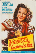 "Movie Posters:Foreign, Violetas Imperiales & Other Lot (Suevia Films, 1952). Argentinean One Sheets (2) (29"" X 43""). Foreign.. ... (Total: 2 Items)"