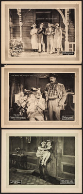 """Isn't Love Cuckoo? & Other Lot (Pathé, 1925). Lobby Cards (3) (11"""" X 14""""). Comedy. ... (Total:..."""