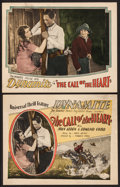 "Movie Posters:Adventure, The Call of the Heart (Universal, 1928). Title Lobby Card &Lobby Card (11"" X 14""). Adventure.. ... (Total: 2 Items)"