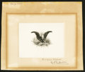 Miscellaneous:Other, Smillie Die Proof - Eagle with Flags.. ...
