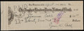 Baseball Collectibles:Others, 1932 Ty Cobb Signed Check - Made Out to Cobb's Sister....