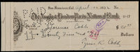 1932 Ty Cobb Signed Check - Made Out to Cobb's Sister