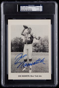 Football Collectibles:Photos, 1965-66 New York Jets Team Joe Namath Signed Rookie PSA Authentic. ...