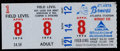 Baseball Collectibles:Tickets, 1974 Hank Aaron 715th Home Run Game Ticket Stub....