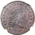 Early Half Dollars, 1795 50C 2 Leaves, O-110, T-21, R.3, AU58 NGC....