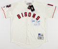Baseball Collectibles:Uniforms, Johnny Bench Signed Buffalo Bisons Jersey....