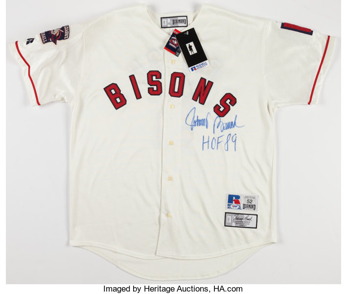 sports shoes 44a55 78e3a Johnny Bench Signed Buffalo Bisons Jersey.... Baseball ...