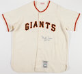Baseball Collectibles:Uniforms, Monte Irvin Signed Giants Jersey....