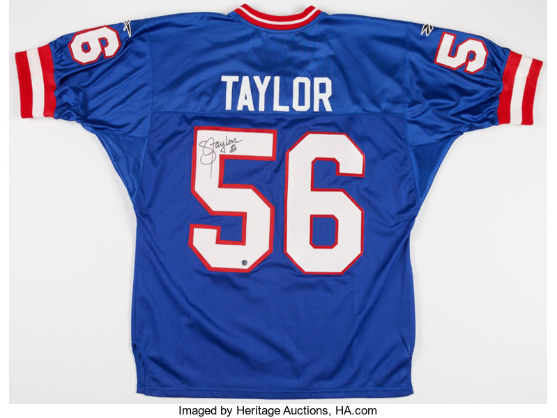 the latest 5ec95 3b981 Lawrence Taylor Signed New York Giants Jersey.... Football ...
