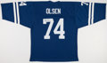 Football Collectibles:Uniforms, Merlin Olsen Signed Los Angeles Rams Jersey....