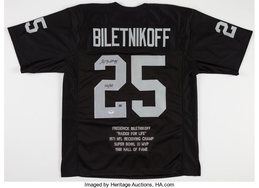 separation shoes b991a cc6b1 Fred Biletnikoff Signed Oakland Raiders Jersey.... Football ...