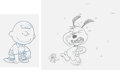 Animation Art:Production Drawing, Peanuts Charlie Brown and Snoopy Animation Drawing (BillMelendez, c. 1980-81). ...