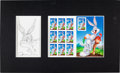 Animation Art:Production Drawing, Chuck Jones - Bugs Bunny Sketch Original Art and Postage Stamp SetGroup of 2 (2012).... (Total: 3 Items)