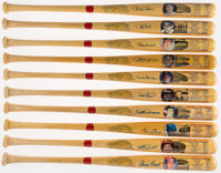 Cooperstown Greats Signed Bats Lot of 10