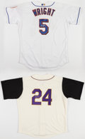 Baseball Collectibles:Uniforms, David Wright and Carlos Gonzales Signed Jerseys (2)....