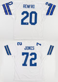 Football Collectibles:Uniforms, Mel Renfro and Ed Too Tall Jones Signed Dallas Cowboys Jerseys (2)....