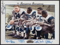 Football Collectibles:Photos, Fearsome Foursome Multi Signed Print....