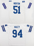 Football Collectibles:Uniforms, Ken Norton Jr. and Charles Haley Signed Dallas Cowboys Jerseys (2)....