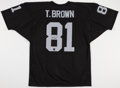Football Collectibles:Uniforms, Tim Brown Signed Oakland Raiders Jersey....